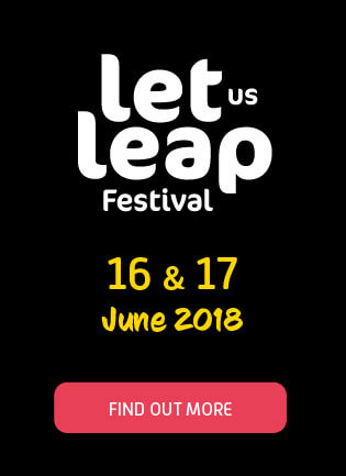Let us leap festival logo
